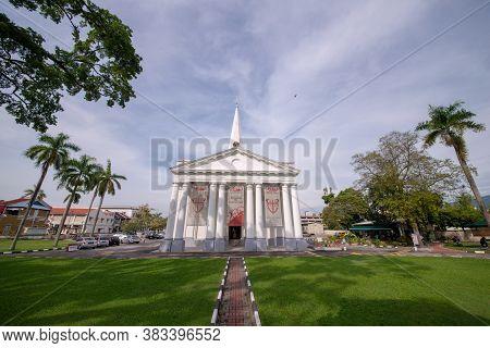 George Town, Penang/malaysia - Jul 07 2017: St George Church In Morning.