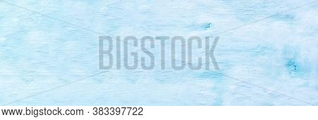 Wall Stucco Putty Blue Color In The Form Of A Background. Photo Banner, Space For Text