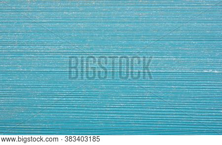Texture Of The Metal Sheet. Pattern. Metal. A Facade Made Of Corrugated Sheet Metal. Background. Tex