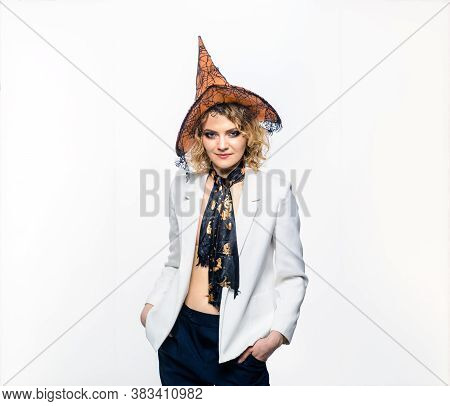 Trick Or Treat. Happy Halloween. Advertising. Fashion. Halloween Concept. 31 October. Sensual Woman