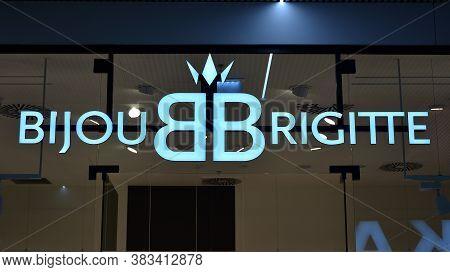 Warsaw, Poland. 1 September 2020. Sign Bijou Brigitte. Company Signboard Bijou Brigitte.
