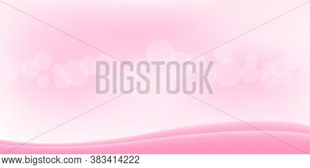 Bokeh Soft Pink For Background And Copy Space, Pink With Bokeh For Banner, Abstract Glowing Pink Bri