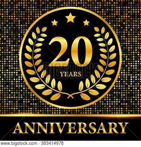 20th Anniversary Celebration. Celebration 20th Anniversary Event Party Template. Vector Stock Illust