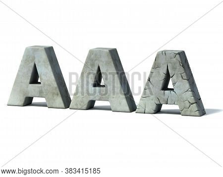 Credit Rating Downgrade - Aaa 3d Concept, Three Dimensional Object