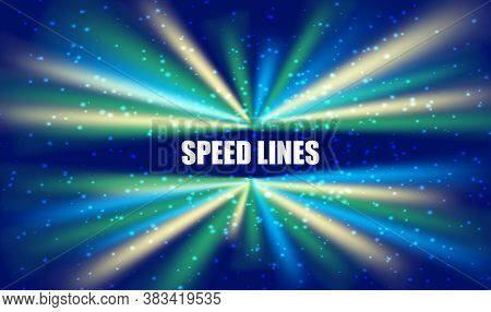 Data Stream Tunnel Abstract Vector Background. Data Fast Transfer
