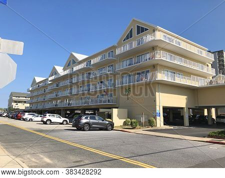 Ocean City, Md: Island Cabana Condominium Building Located On 90th Street And Coastal Highway (july