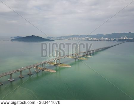 George Town, Penang/malaysia - Oct 24 2019: George Town, Penang/malaysia - Oct 24 2019: Aerial View