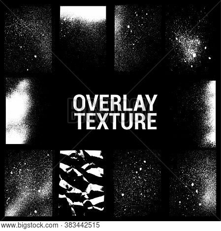 Texture Overlays Collection. Apply Textures To Your Background To Create - Dirty Grainy Stamp, Scrat