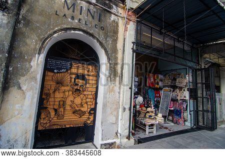 Georgetown, Penang/malaysia - Feb 14 2020: Souvenir Shop At Georgetown.