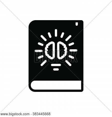 Black Solid Icon For Knowledge Intelligence Comprehension Understanding Knowing Education Book