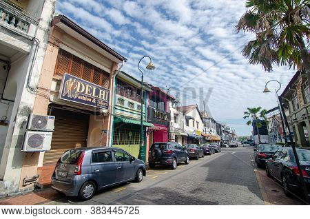 Georgetown, Penang/malaysia - Feb 14 2020: Old Street At Georgetown.