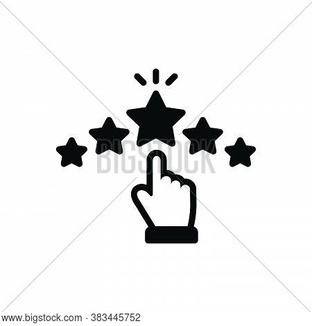 Black Solid Icon For Rating Grade Ranking Category Star Valuation Favorite Feedback Review Like Exce