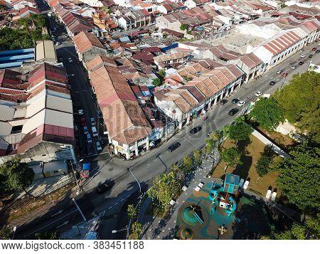 Georgetown, Penang/malaysia - Feb 29 2020: Jalan Magazine Nearby Sia Boey Urban Archaeological Park