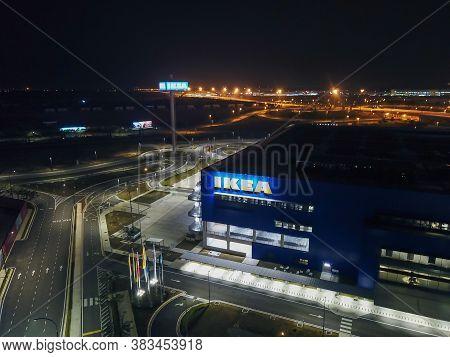 Batu Kawan, Penang/malaysia - Mar 20 2020: Architecture Ikea Store.