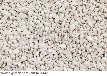 Quarry Stones Sorted Fraction. Background From Crushed Stones For For Construction Of Roads Or Cemen