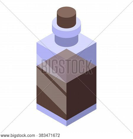 Essential Oils Bottle Icon. Isometric Of Essential Oils Bottle Vector Icon For Web Design Isolated O