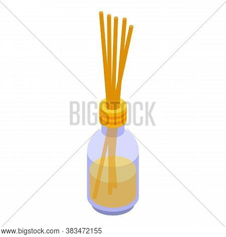 Fragrance Sticks Diffuser Icon. Isometric Of Fragrance Sticks Diffuser Vector Icon For Web Design Is