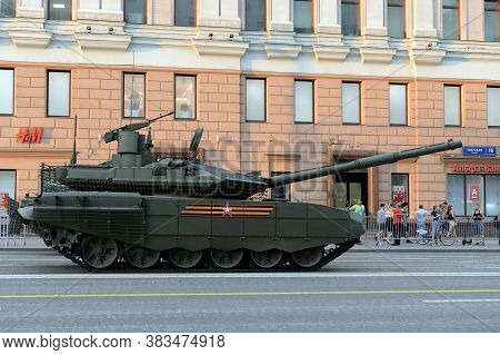 Moscow, Russia - June 17, 2020: Russian Main Tank T-90m