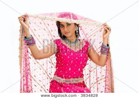 Beautiful Bangali Bride Lifting Veil