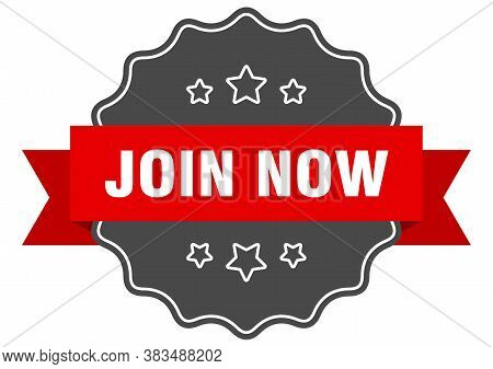 Join Now Red Label. Join Now Isolated Seal.