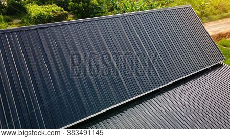 Black Zinc Roof Is Already Installed, Black Zinc Roof Is Already Installed.