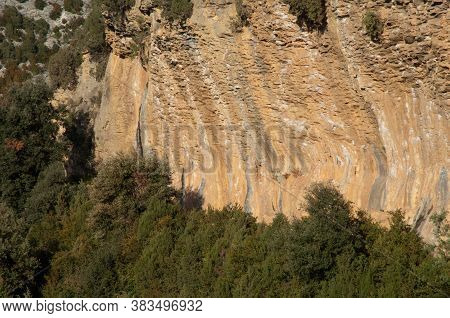 Mascun Ravine In The Natural Park Of The Mountains And Canyons Of Guara.