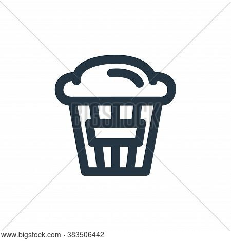 popcorn icon isolated on white background from carnival and amusement collection. popcorn icon trend