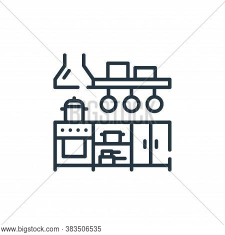 kitchen icon isolated on white background from restaurant collection. kitchen icon trendy and modern