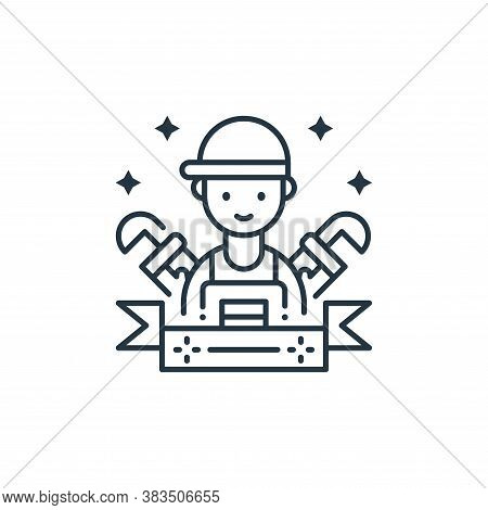 plumber icon isolated on white background from labor day collection. plumber icon trendy and modern