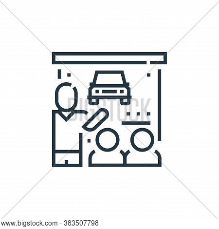 training icon isolated on white background from driving school collection. training icon trendy and