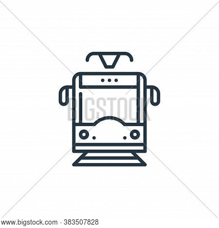 tram icon isolated on white background from holland collection. tram icon trendy and modern tram sym