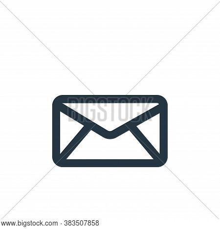 mail icon isolated on white background from business collection. mail icon trendy and modern mail sy