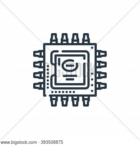 cpu icon isolated on white background from hardware collection. cpu icon trendy and modern cpu symbo