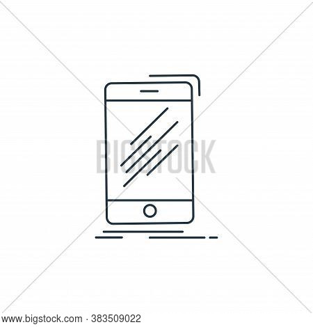 smartphone icon isolated on white background from d printing and communication collection. smartphon