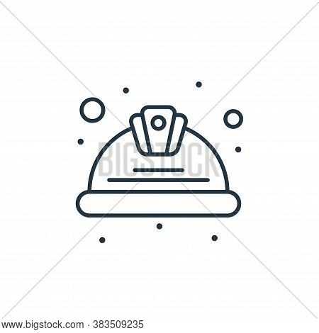 helmet icon isolated on white background from labour day collection. helmet icon trendy and modern h