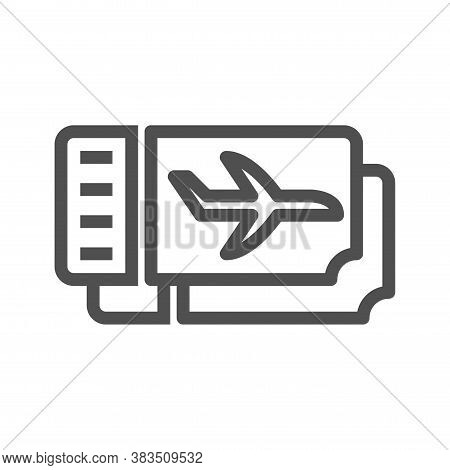 Plane Ticket Icon. Trendy Plane Ticket Logo Concept On White Background From Architecture And Travel