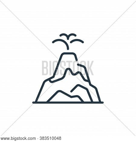 volcano icon isolated on white background from fairytale collection. volcano icon trendy and modern