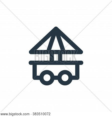 food stall icon isolated on white background from carnival and amusement collection. food stall icon