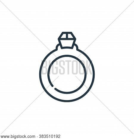 engagement ring icon isolated on white background from celebration collection. engagement ring icon