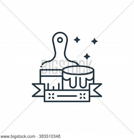paint brush icon isolated on white background from labor day collection. paint brush icon trendy and