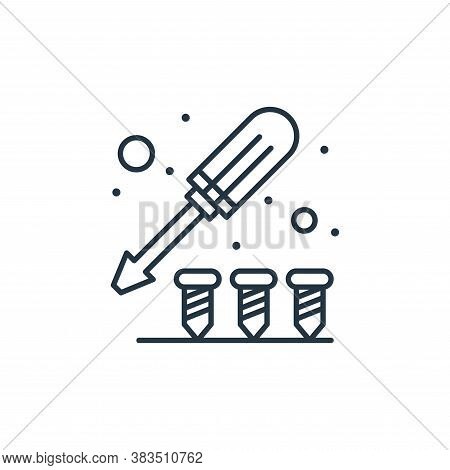 screw icon isolated on white background from labour day collection. screw icon trendy and modern scr