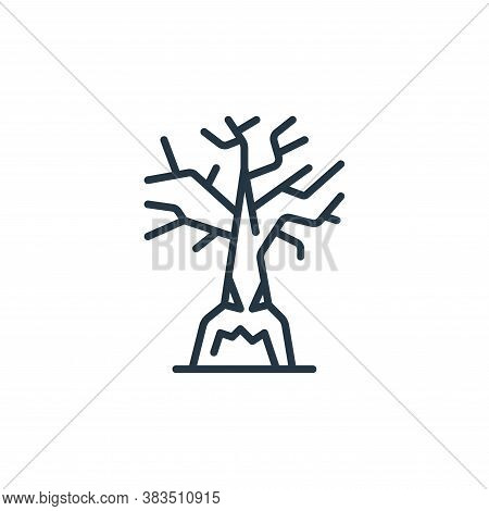 oak icon isolated on white background from fairytale collection. oak icon trendy and modern oak symb