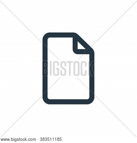 file icon isolated on white background from interface collection. file icon trendy and modern file s