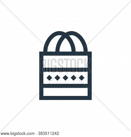tote bag icon isolated on white background from handcrafts collection. tote bag icon trendy and mode