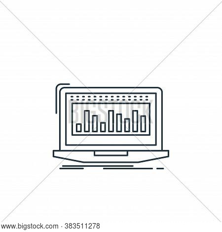 data icon isolated on white background from analytic investment and balanced scorecard collection. d