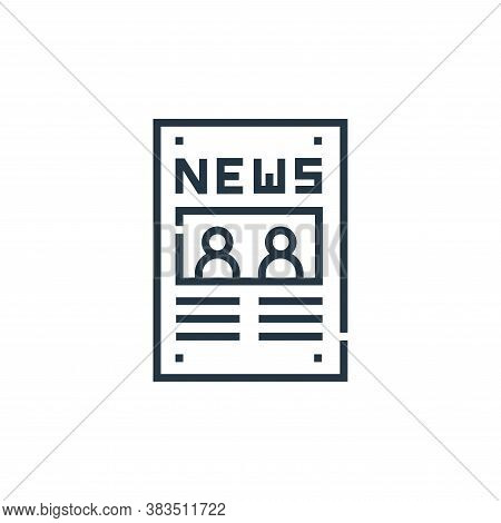 newspaper icon isolated on white background from voting elections collection. newspaper icon trendy
