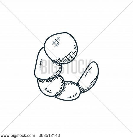 Shrimp icon isolated on white background from food hand drawn collection. Shrimp icon trendy and mod