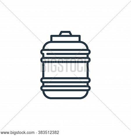 water bottle icon isolated on white background from cinco de mayo collection. water bottle icon tren