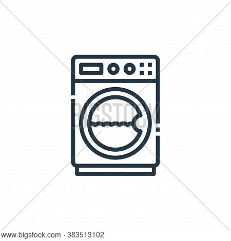 washing machine icon isolated on white background from furniture collection. washing machine icon tr