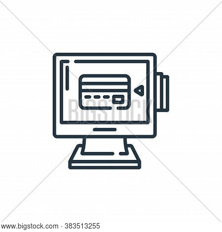 pos terminal icon isolated on white background from hardware collection. pos terminal icon trendy an